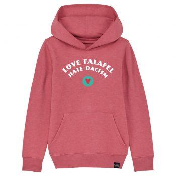 Love Falafel - Hate Racism - Kids-Hoodie