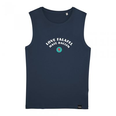 Love Falafel - Hate Racism - Herren-T-Shirt ärmellos