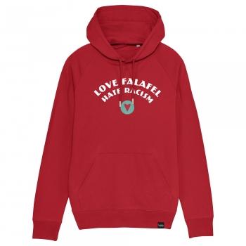 Love Falafel - Hate Racism - Herren-Hoodie