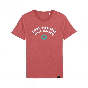 Love Falafel - Hate Racism - T-Shirt