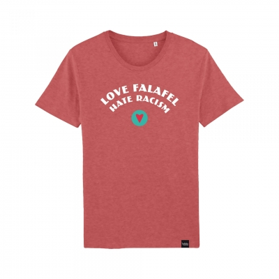 Love Falafel - Hate Racism - T-Shirt