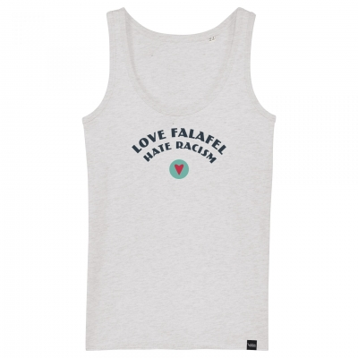Love Falafel - Hate Racism - Damen-Tanktop